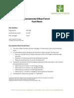 Sacramento Urban Forest Fact Sheet
