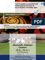 Interpretations and perceptions associated with indigenous psychotherapeutic practices of traditional healers in Ayetoro Town, Nigeria