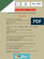 Programa - Dia Da Internet Mais Segura 2013