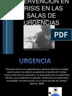 intervención en crisis en salas de urgencias