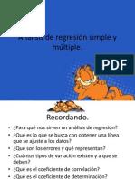 Análisis de regresión simple y múltiple