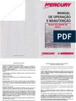 Manual de Proprietario Do Motor de Popa Mercury 15HP Super A