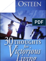 30 Thoughts for Victorious Living by Joel Osteen