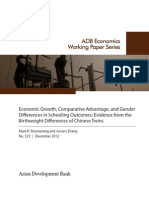 Economic Growth, Comparative Advantage, and Gender Differences in Schooling Outcomes