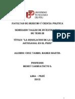 Mineria Artesanal en El Peru - Tesis Martin