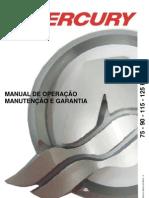 Manual de Proprietario Do Motor de Popa Mercury 75-90-115-125 HP (Carburado) b