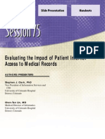 Evaluating the impact of patient Internet access to medical records