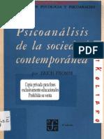 Erich Fromm - Psicoanálisis de la Sociedad Contemporánea By Luis Vallester