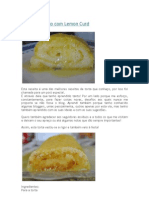 Torta de Limão com Lemon Curd
