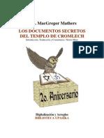 Mathers Macgregor - Los Documentos Secretos Del Templo Cromlech