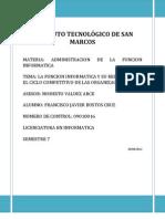 Admistracion de La Funcion Informatica