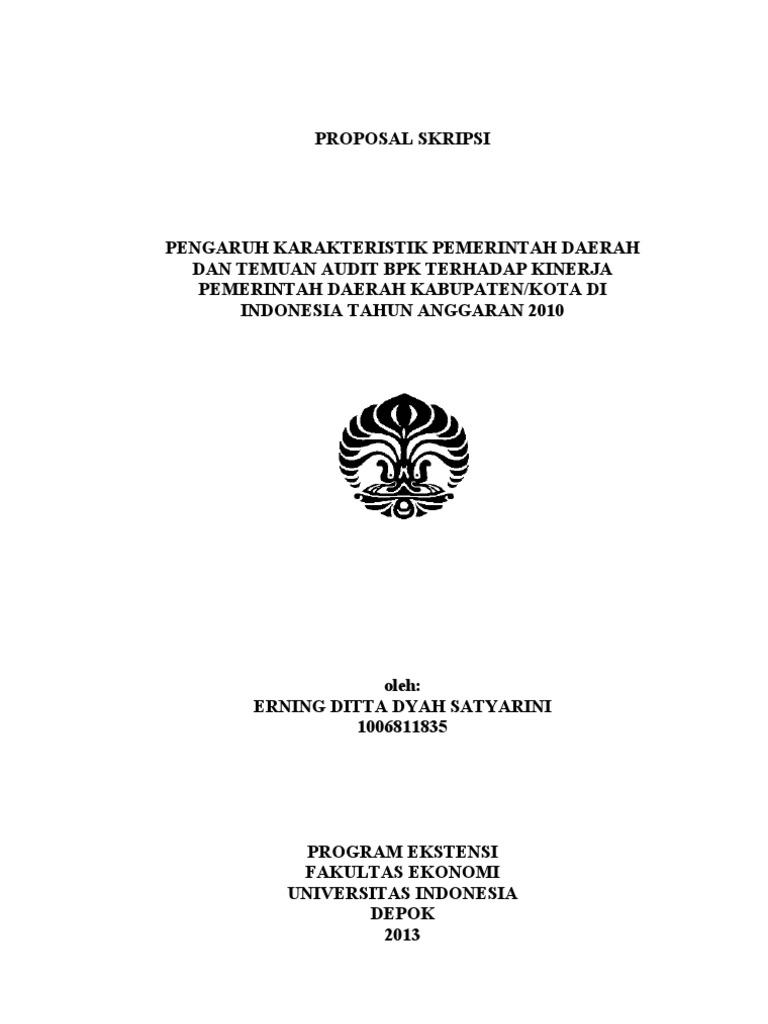 Contoh Proposal Skripsi Akuntansi Audit Pdf Kumpulan Berbagai Skripsi