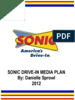 Dani Sprowl Sonic Media Plan 2012