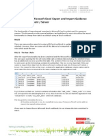 MS Excel Export Import Guidance Primavera 6