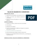 GUIA DE TALLER DE DIAGNÓSTICO COMUNITARIO 25 JUNIO