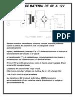 Cargador de Baterias de 6v a 12v