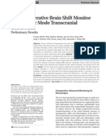 (3) an Intraoperative Brain Shift Monitor Using Shear Mode Transcranial Ultrasound