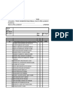 senarai semak PBS tingkatan 2 2013