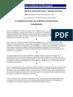 Ley General de Deportes, Educacion Fisica y Recreacion Fisica