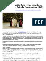 Short Clip - Pope Benedict Trust in Gods Providence