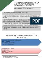 6 Metas Internacionales Para La Seguridad Del Paciente