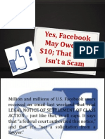 Yes, Facebook May Owe You $10; That Email Isn't a Scam