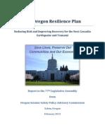 Oregon Resilience Plan Draft