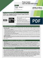DSP BlackRock RGESS Fund – Series 1