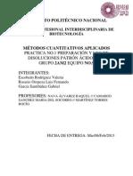 Preparación y estandarización de soluciones ácido-base