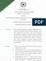 Peraturan Presiden Republik Indonesia Nomor 9 Tahun 2013
