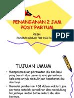 Penanganan 2 Jam Post Partum