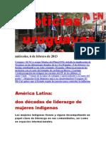 Noticias Uruguayas miércoles 6 de febrero del 2013