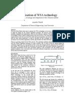 OPTIMIZATION OF WSA TECHNOLOGY