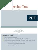 102049538 Service Tax Presentation