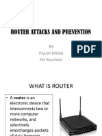 ROUTER ATTACKS AND PREVENTION