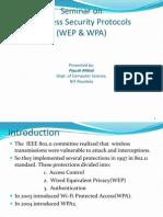 Wireless Security Protocols