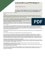 Declaratia 600 Si Declaratia 620 in Cazul PFA Obligatii Si Plati