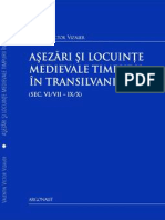 Victor V. Vizauer - Asezari si locuinte medievale timpurii (sec. VI/VII-IX/X) in Transilvania