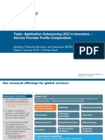IT Application Outsourcing (AO) in Insurance - Service Provider Profile Compendium