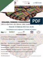 Seminario Stalking - Mobbing - 15 Febbraio Cagliari -