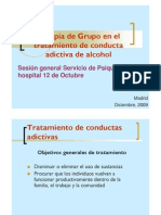 Eficacia de la terapia de grupo en adicciones