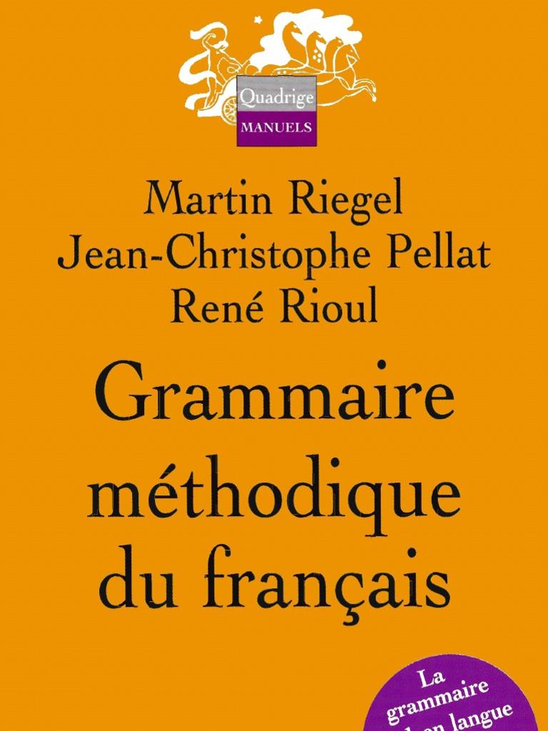 reputable site f0510 dcb41 53680880 Grammaire Methodique Du Francais PUF
