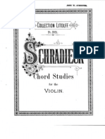 chord studies for the violin