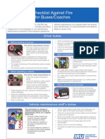 IRU Checklist against fire for buses and coaches
