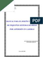 Manual para el diseño y gestión de pequeños sistemas de riego por aspersión en laderas