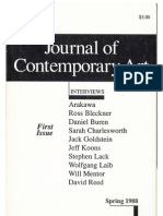 JOURNAL OF CONTEMPORARY ART Covers & Reviews1988-92