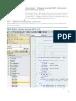 SAP Implicit enhancement points