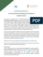 Comunicato Stampa Lancio Global Impact Competition