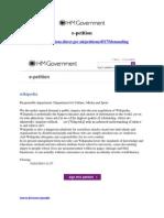 Wikipedia Government e-petition
