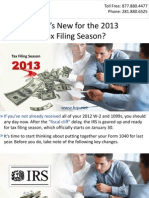 What's New for the 2013 Tax Filing Season?